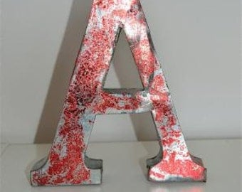 Medium vintage style 3D red letter A