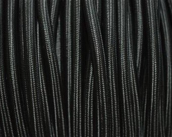 1 metre black silk covered 3 core light flex B2