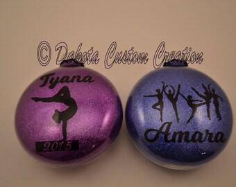 Gymnastics Christmas Ornament - Glitter Gymnastics Personalized Ornament - Personalized Ornament - Glitter Ornament - FREE Personalization