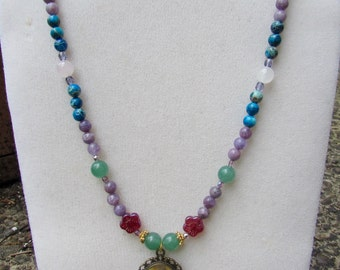 Colorful Spring/Summer Goddess Gemstone Necklace