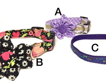 A is sold out-OOAK small dog collars, ready to ship collars, discounted dog collars, dog gifts, Christmas gifts,