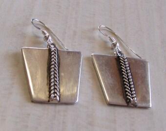 Sterling Silver Dangle Wire Earrings by Elias