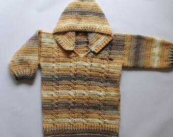 PDF, Tama's (Nearly No Sew) Hoodie, crochet, pattern