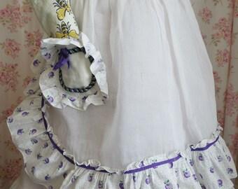 Vintage Apron Purple Plums Flouncy Wench Vixen Homemaker Rockabilly