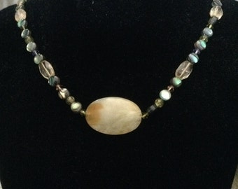 Jade and Multi Gemstone Necklace