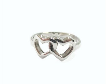 RP038 Sterling Silver Heart Plain Ring ,Weight 3.15 g.