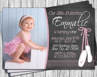 Ballerina Birthday Invitation - Printable Ballet Birthday Invitations