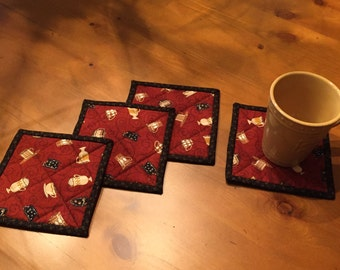 Quilted Mug Rugs / Quilted Coasters / Item # 1111