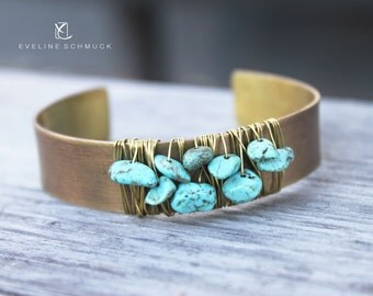 Boho Bracelet  with turquoise beads