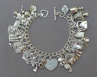Alice in Wonderland 7 1/2 inch Charm Bracelet - Drink Me