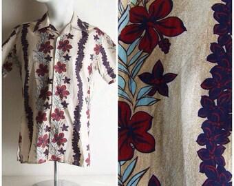Shirt man/ shirt hawaiian/ shirt tiki/ tiki/ rockabilly/shirt hibiscus/shirt rockabilly