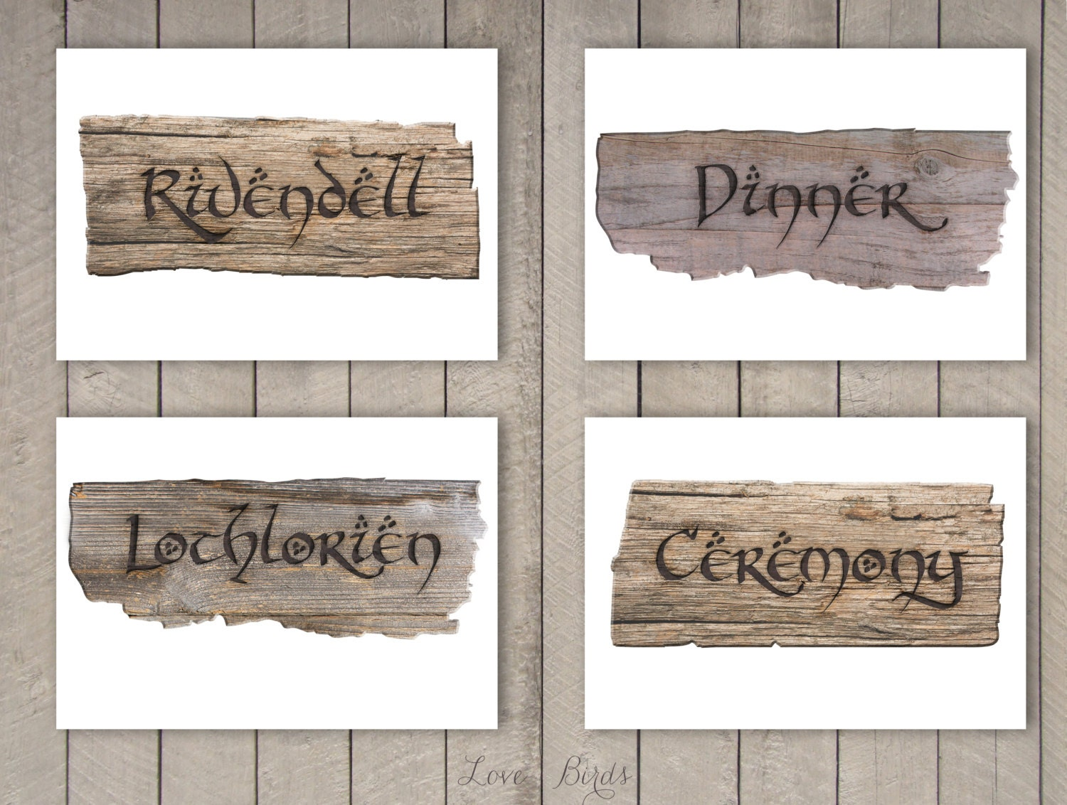 lotr wedding lotr wedding ring Hobbit Lord of the Rings Wedding decoration Sign post DIY 20 pages Digital file