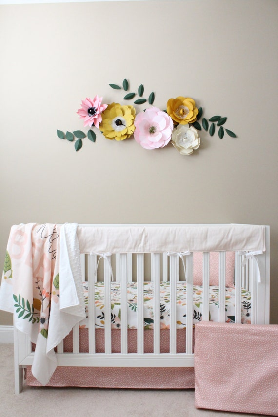 Floral Crib Bedding Baby Girl Bedding Modern By