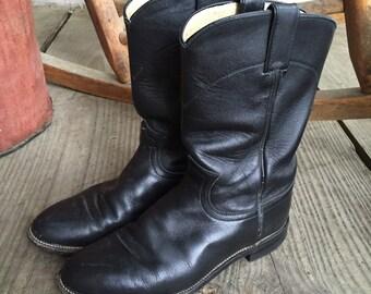 1980's Vintage Justin Roper Cowboy boots, Women's Size 7C