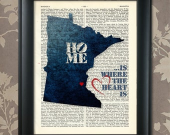 Minnesota Art Print, Minnesota Print, Minnesota Map Art, Minnesota Wall Art, Minnesota Pride, Minnesota Map Print, Minnesota Map, Minnesota