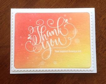 Thank You Card, Handmade Greeting Card