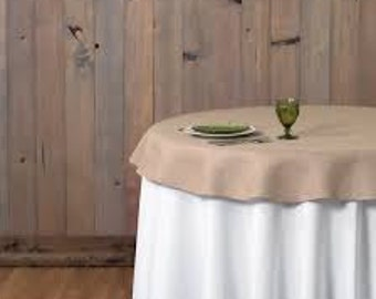 """Burlap 60"""" Round Tablecloth or Overlay"""