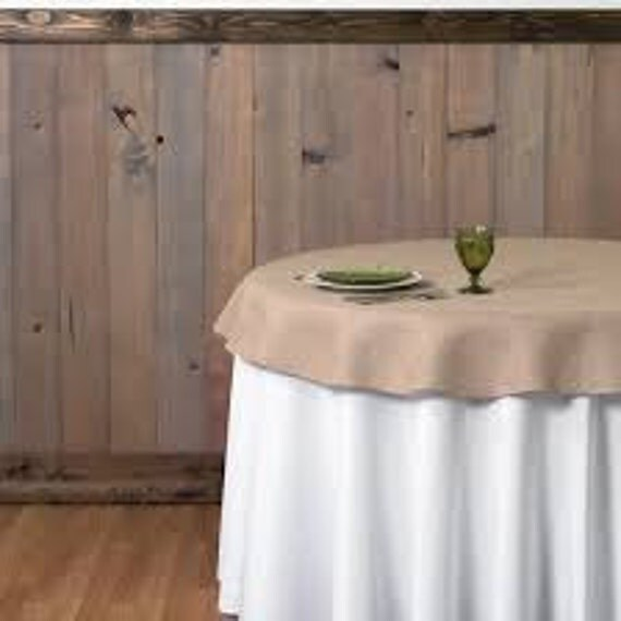 Burlap 60 Round Tablecloth Or Overlay