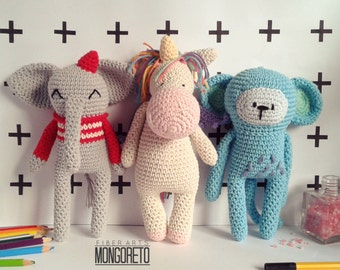 Combo 3 amigurumi patterns