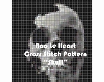 Cross Stitch Pattern: Skull