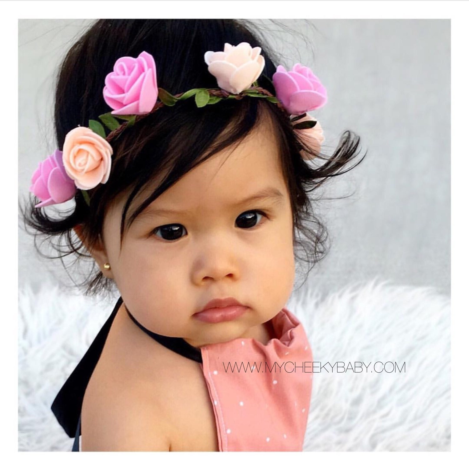 Child Flower Crown Baby Headband Newborn Toddler Headband Baby