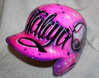 Batting helmet, Baseball helmet,, Softball helmet, Personalized Helmet, Rawlings Helmet, Coolflo, Airbrushed Helmet, T Ball Helmet, Softball