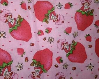 Pink Rare Strawberry Shortcake Fabric