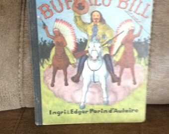 SALE Vintage Old Children's Book!  BUFFALO BILL
