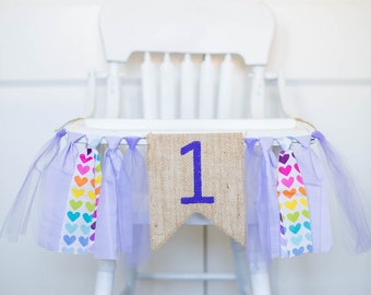 First Birthday High Chair Banner