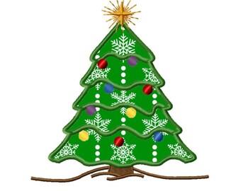 Christmas Tree 2 Applique Machine Embroidery DESIGN NO. 331