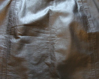 80's Leather Skirt by Amati Size 2