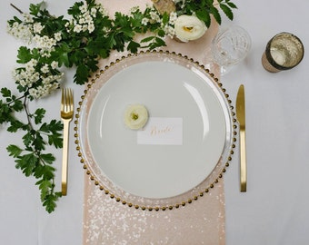 10 Blush Sequin Table Runners