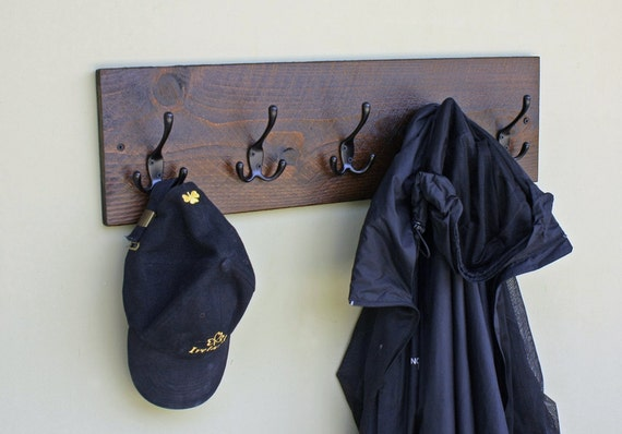 Wood Coat Rack Wall Mounted Coat Rack With 5 by