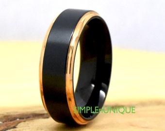 Black Titanium Ring for Men, Black Titanium Engagement Ring, Black Titanium Wedding Ring, Titanium Ring for Men, Mens Titanium Wedding Ring