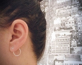 Front/back circle earrings