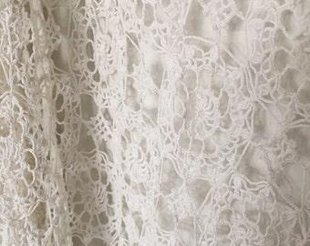 FLASH SALE- Cream Vintage Crochet Cover