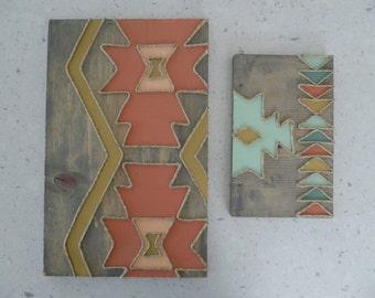 Tribal Print Rustic Wall Hangings (Set of 2)