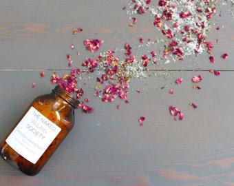 Organic Bath Salt - Peppermint and Rosemary | Rejuvenating | Energizing | Aromatherapy | Therapeutic | Vegan | Cruelty-Free | 16 oz