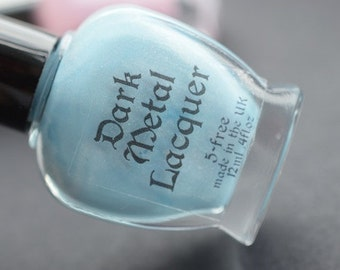 The End of August - aqua blue subtle holographic indie nail polish (11ml)