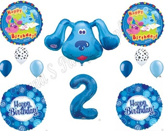 BLUES CLUES 2ND Happy Birthday Party Balloons Decoration Supplies Second Magenta Boy