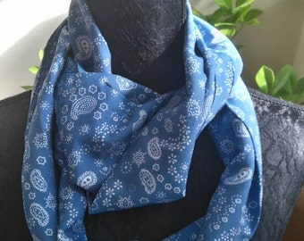 Pretty blue infinity scarf