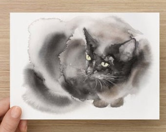 "Card with my cat art (7"" x 5"")"