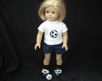 "Soccer outfit for American Girl & Other 18"" Dolls"