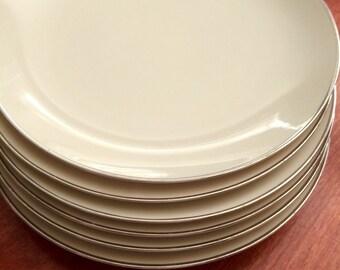 6 Gladding Mcbean Franciscan Sandalwood Dinner Plates