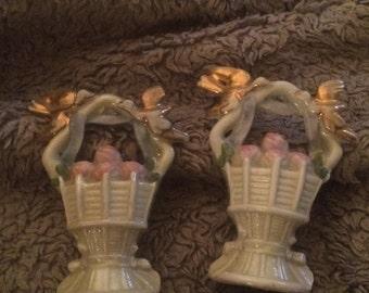 Pair of Tiny Porcelain Baskets