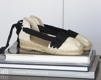 Lace up espadrilles mini wedges - CATALAN - mumishoes - made in spain
