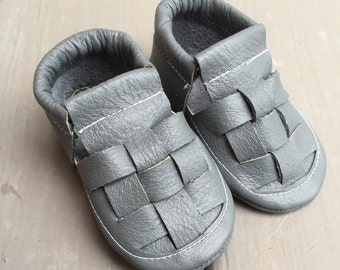 Gray Chankla Moccasin Sandals