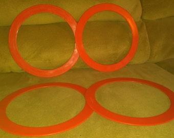 Red 8 rings