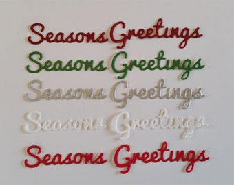 Season's Greetings Script Die Cuts