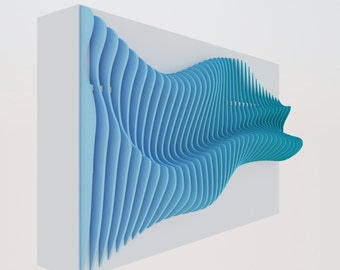 "Parametric wall ""wave"""